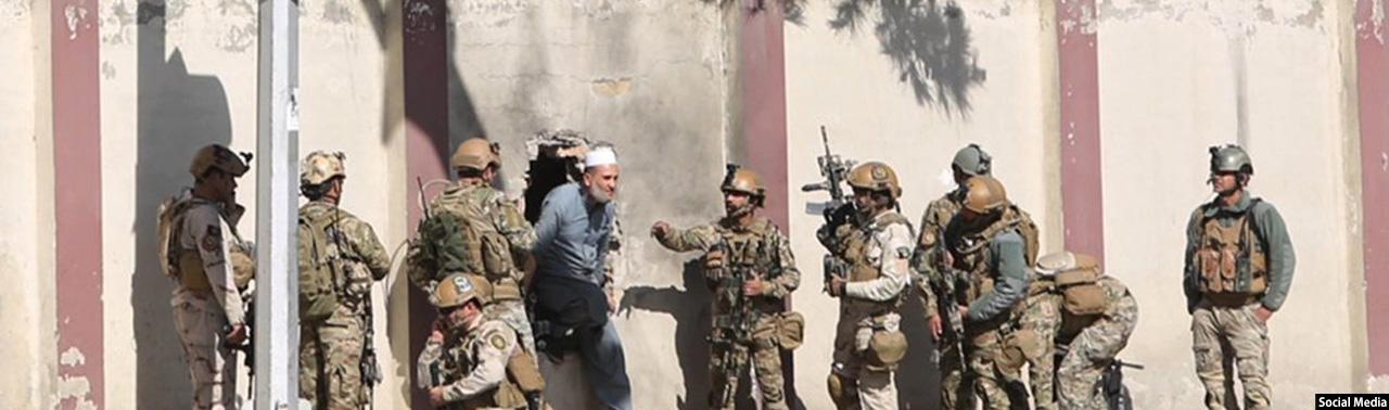 پایان حمله مهاجمان مسلح بر تلویزیون خصوصی شمشاد؛ داعش مسئولیت حمله را بر عهده گرفت