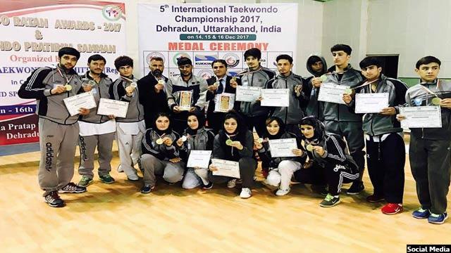 رشته ورزشی این نوجوان افغان تکواندو است