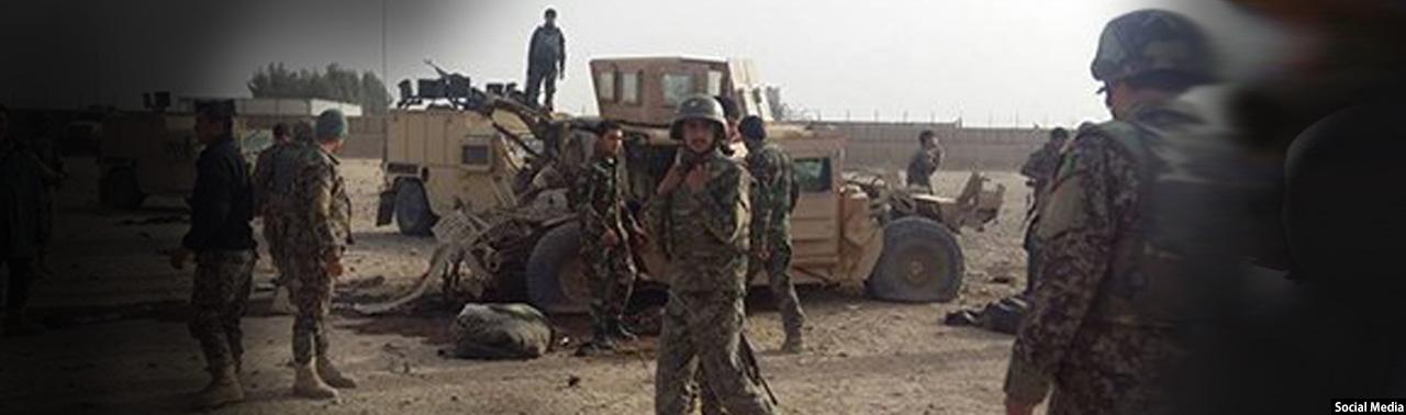 در ولایت هلمند؛ ۱۴ سرباز ارتش افغانستان در یک انفجار زخمی شدند