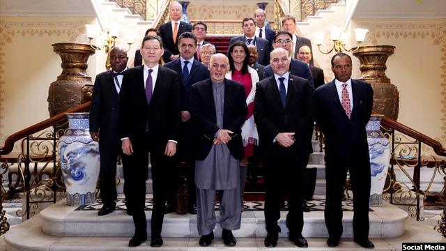 رییس جمهور افغانستان در دیدار با هیات شورای امنیت سازمان ملل