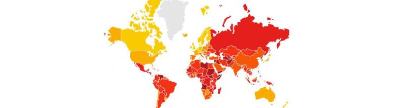 چهارمین کشور فاسد جهان؛ چهار پله سقوط جایگاه افغانستان در گزارش سازمان شفافیت بینالمللی