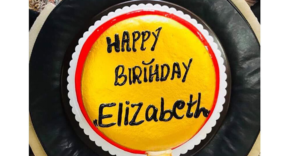 Elizabeth happy birthday cake
