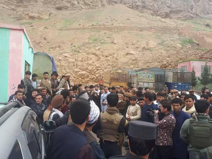 Protesters in Baghlan