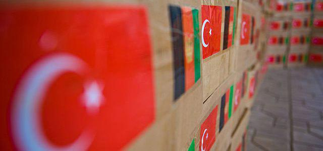 Afghanistan turkey flags