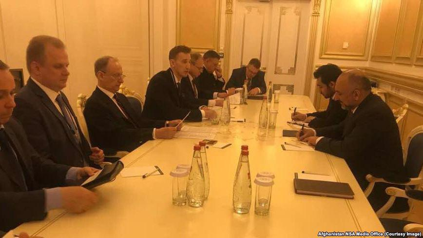 hanif atmar with russian officials