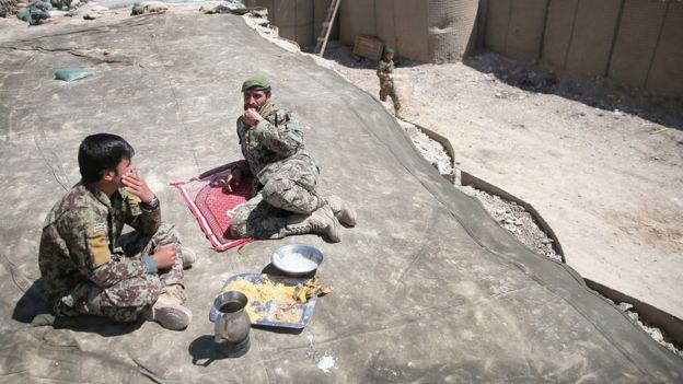 Afghan soliders foods