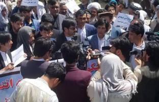 خیمه تحصن شهروندان معترض غزنی؛ حکومت افغانستان تنها ۲۴ ساعت برای لغو فیصله حوزهای شدن انتخابات غزنی فرصت دارد