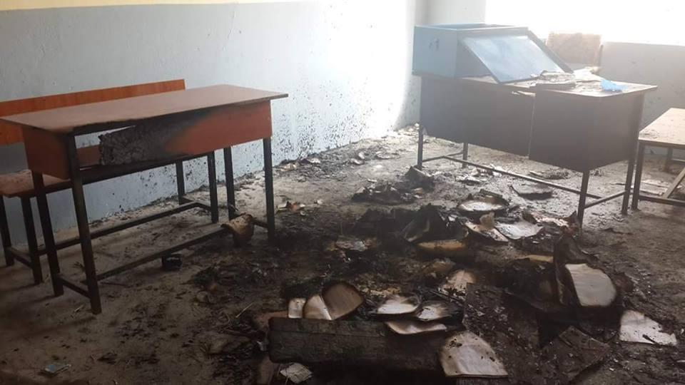 burned school in afghanistan