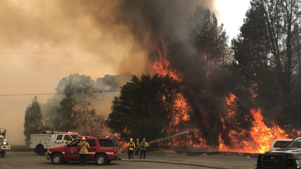 burning in california