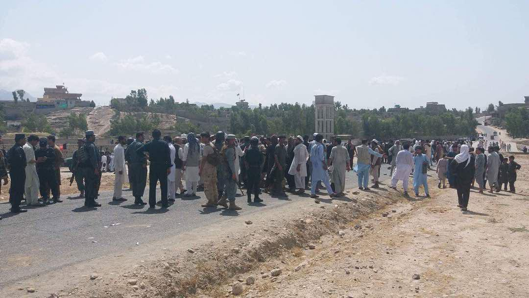 people demonstration in laghman