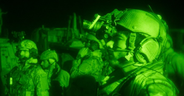 Afghan forses night