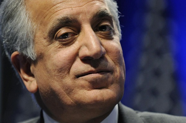 Khalilzad listens to speakers during a panel discussion on Afghanistan at the Conservative Political Action conference (CPAC) in Washington