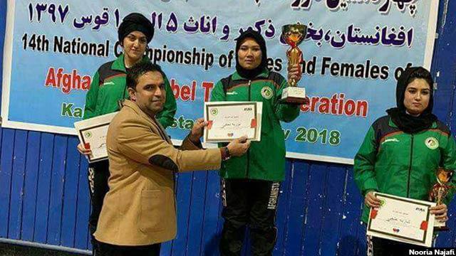 تقریبا شش سال است که نوریه شخص اول پینگ پانگ افغانستان است