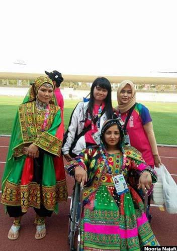 نوریه در کنار تمرینات ورزشی، معاون شورای اجتماعی زنان دارای معلولیت است