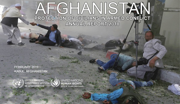 Civilian deaths from Afghan conflict in 2018 at highest recorded level