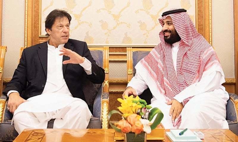 عمران خان در جریان اولین تور خارجی اش به عنوان نخست وزیر در عربستان سعودی