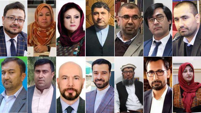 احزاب سیاسی ۶۹ نفر و نهادهای جامعه مدنی ۱۵ نفر از اعضای خود را به عنوان نامزد برای عضویت در کمیسیونهای انتخاباتی افغانستان معرفی کردند که پس از رأیگیری، 16 نفر بالاترین آرا را کسب کردند