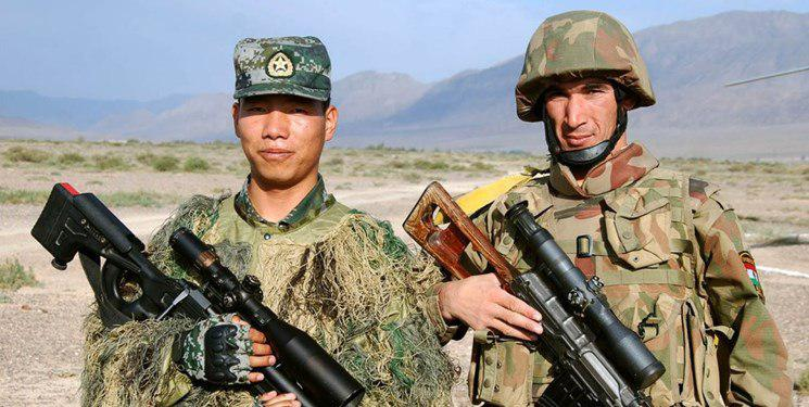 Tajikstan and china soliders