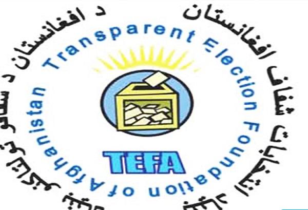 بنیاد انتخابات شفاف افغانستان(تیفا) نیز اعلام داشته که اشتراک مردم در تمام ولایات در انتخابات ریاست جمهوری کمرنگ بوده .