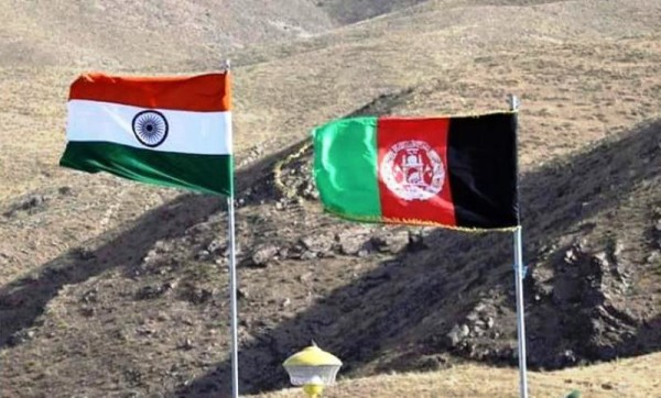 Afghanistan india flags