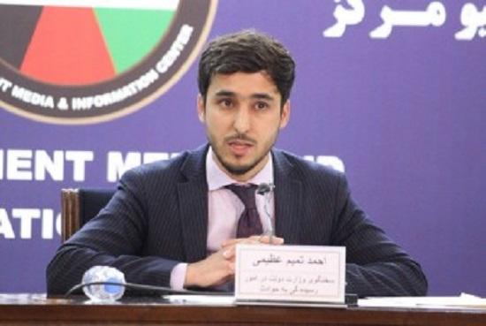 احمد تمیم عظیمی، سخنگوی وزارت دولت در مبارزه با حوادث طبیعی