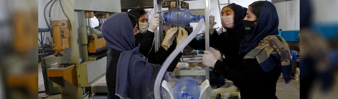 دختران رباتیک افغانستان؛ سازندگان ونتیلاتوری که با قطعات تویوتا کرولا ساخته می شود