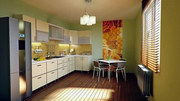 رنگ مناسبی روی دیوارهای بزنید. مطابق با مطالعهای که در دانشگاه وریج آمستردام انجام شد، رنگهای سبز یا زرد روی دیوارها بیشترین حس شادی را به فضا اضافه میکنند.
