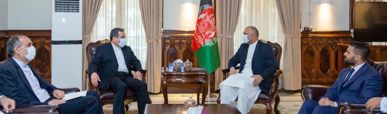 سفر معین سیاسی وزارت خارجه ایران به افغانستان؛ عراقچی با اتمر دیدار کرد