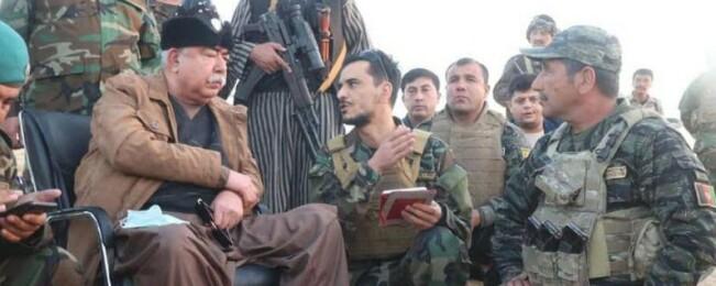 افزایش حملات طالبان در فاریاب؛ مارشال دوستم از خط نخست عملیات دیدار کرد