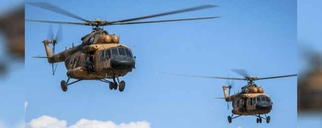 سقوط دو چرخبال ارتش در هلمند؛ وزارت دفاع: ۹ تن کشته شده اند