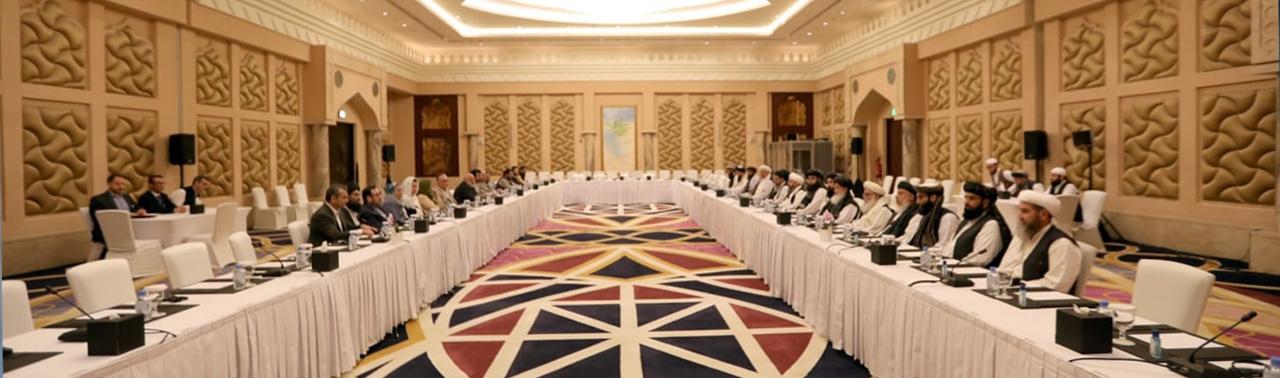 نخستین نشست کمیتهی مشترک کاری دولت و طالبان در دوحه؛ گفتگو ها روی آجندای مذاکرات آغاز شد