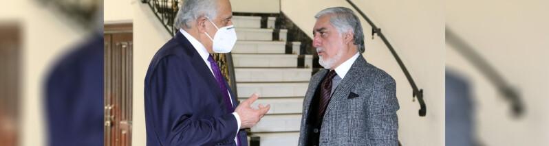 دیدار خلیلزاد با عبدالله؛ رییس شورای مصالحه: افزایش خشونتها و ترور های هدفمند قابل قبول نیست