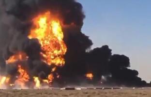 آتش سوزی گسترده در بندر اسلام قلعه؛ ایران برای بازگشت لاری ها مسیرهای ورودی را باز گذاشته است