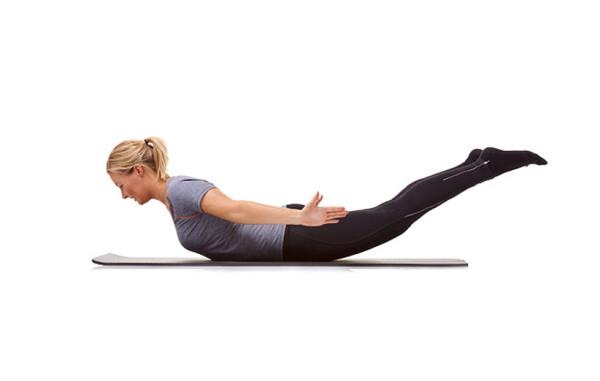 این تمرین نیز برداشتن اندام بی نقص بسیار اثرگذار است: