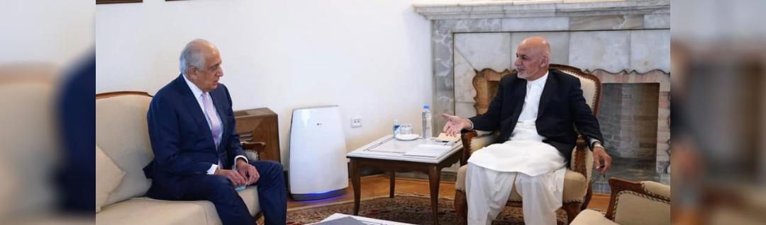 آمادگی ها برای نشست استانبول؛ خلیلزاد با غنی، عبدالله و شماری از رهبران سیاسی در کابل دیدار کرد