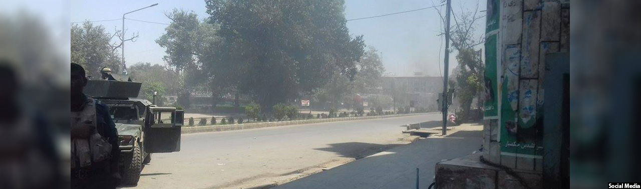 حمله مهاجمان مسلح به ساختمان تلویزیون ملی افغانستان در جلال آباد