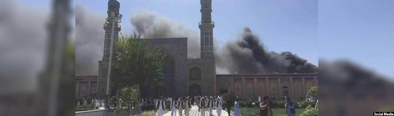 ۶ کشته و ۱۵ زخمی؛ غیرنظامیان قربانی انفجار در برابر مسجد جامع هرات