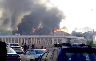 گزارش تصویری از آتشسوزی در جاده تیمورشاهی کابل
