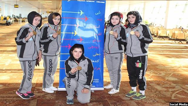 گروپ از افتخار افرینان افغان