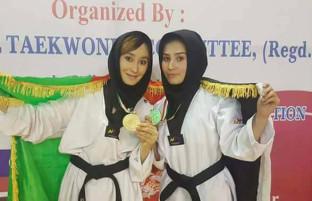 چهره های برتر تکواندوی زنان افغانستان؛ داستان 3 دختر طلایی در مسابقات دهلی جدید