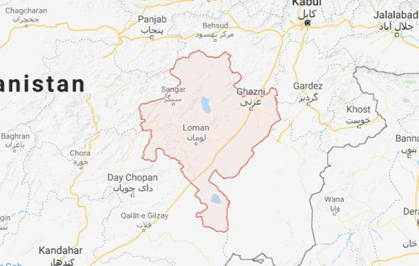ghazni in map