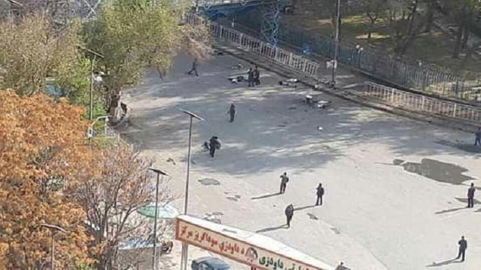 kabul blast protest