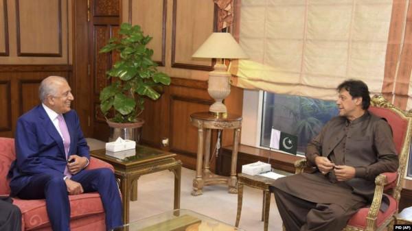 Khalilzad and imran khan