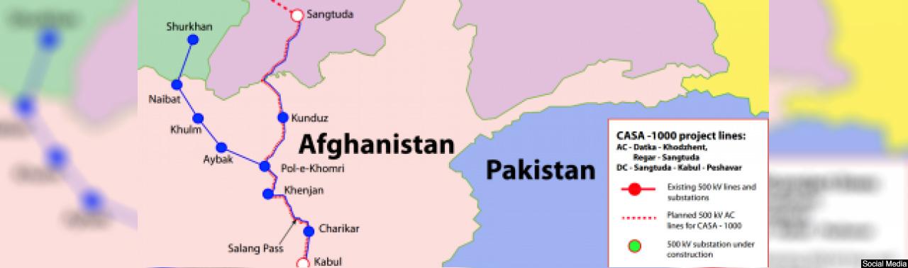 افغانستان با پتانسیل گذرگاه انتقال انرژی؛ ۵ نکته مهم در مورد پروژه بزرگ کاسا یک هزار