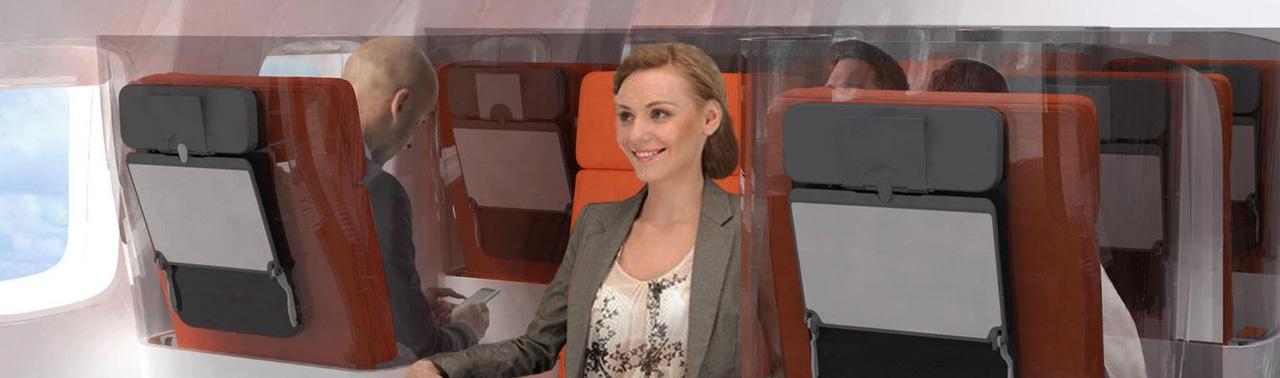 کرونا و سفر هوایی؛ طراحی جدید صندلی هواپیما در راه است