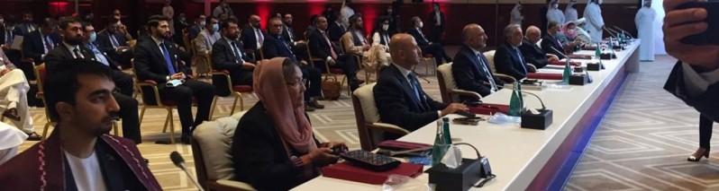 مذاکرات بین الافغانی؛ نشست عمومی تیم های مذاکره کننده برگزار شد/ خلیلزاد به هند رفت