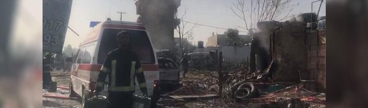 انفجار بر کاروان معاون اول ریاست جمهوری در کابل دو کشته و ۱۲ زخمی برجای گذاشت