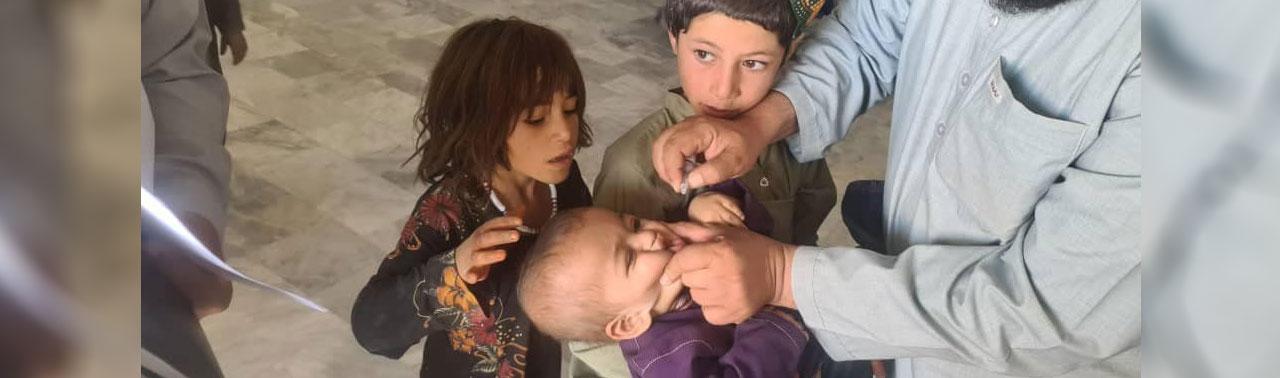 آغاز کمپاین واکسین پولیو در ۱۰ ولایت؛ حدود دومیلیون کودک واکسین می شود