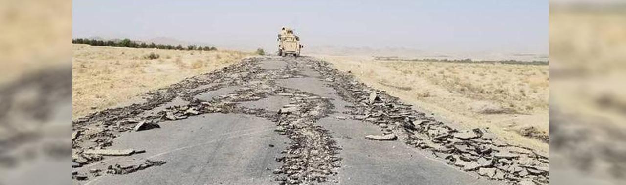 تخریب شاهراه قندهار- ارزگان؛ ارگ: طالبان از کشتار مردم و تخریب افغانستان دست بردارند