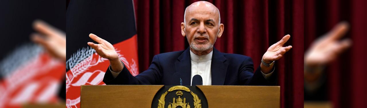غنی به طالبان؛ افغان ها در خیمه هم می توانند مذاکره کنند